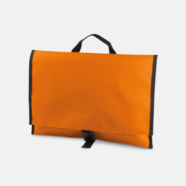 Orange Dokumentfodral med reklamtryck