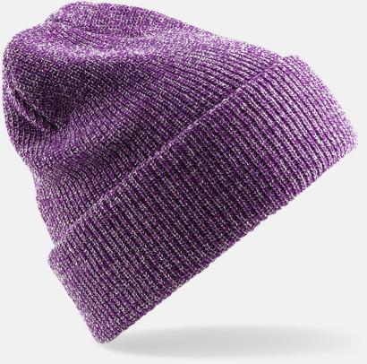 Heather Purple Vintage-mössor med reklambrodyr