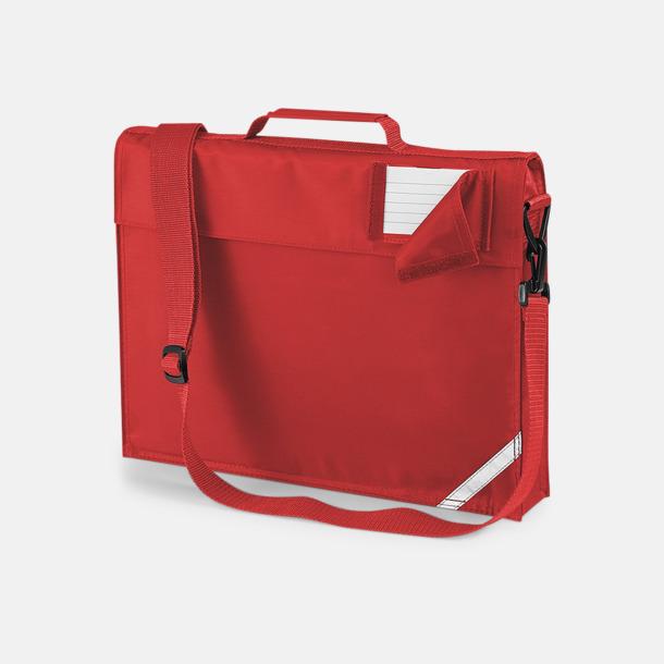 Bright Red (med rem) Bokväskor med eller utan axelrem med reklamtryck