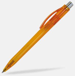 Orange Billiga och stiliga plastpennor med reklamtryck
