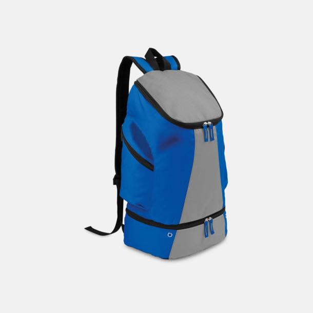 Royal Blue/Ljusgrå Gymryggsäckar med reklamtryck