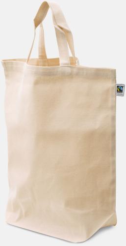 Natur (PMS 454) Ekologiska bomullskassar med reklamtryck
