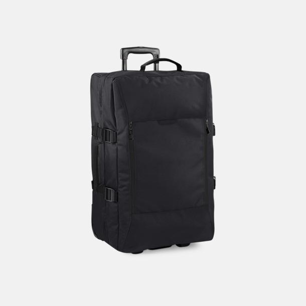 Svart (Medium Wheelie) Trolley resväskor i 3 storlekar med reklamtryck