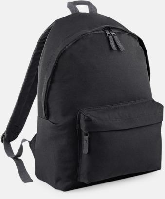 Svart Den klassiska ryggsäcken i XL storlek med reklamtryck