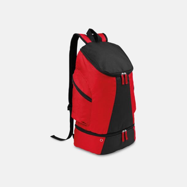 Röd/Svart Gymryggsäckar med reklamtryck
