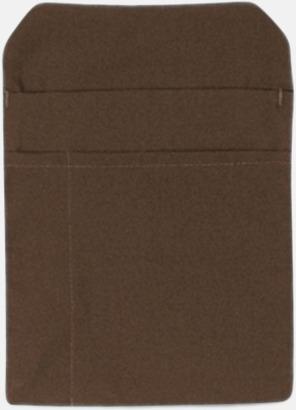 Taupe Förklädesfodral med reklamtryck