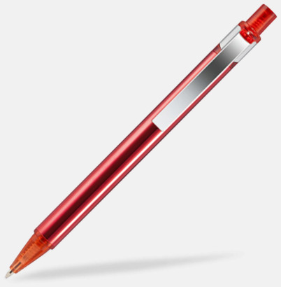 Röd Billiga metallpennor med reklamlogo
