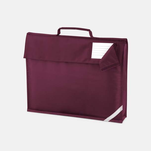 Burgundy (utan rem) Bokväskor med eller utan axelrem med reklamtryck