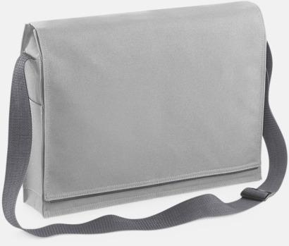 Ljusgrå Moderna axelremsväskor med reklamtryck