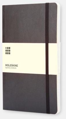 Svart (ruled) Moleskine mjuka notisböcker i 3 utföranden med reklamtryck