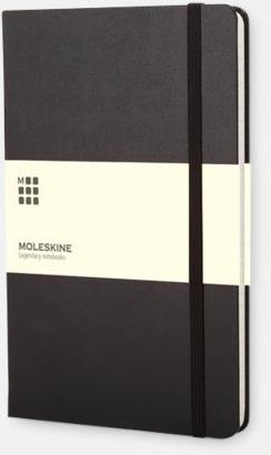 Svart (ruled) Moleskines mindre anteckningsböcker med linjerade eller rutade sidor - med reklamtryck