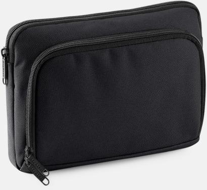 Svart iPadfodral i två storlekar med reklamtryck