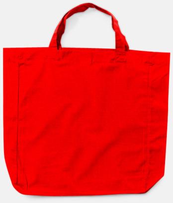 Röd Billiga shoppingkassar i bomull med reklamtryck