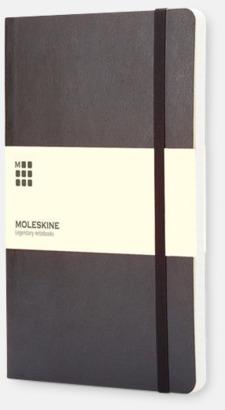 Svart (ruled) Moleskines mjuka anteckningsböcker i mindre format - med reklamtryck