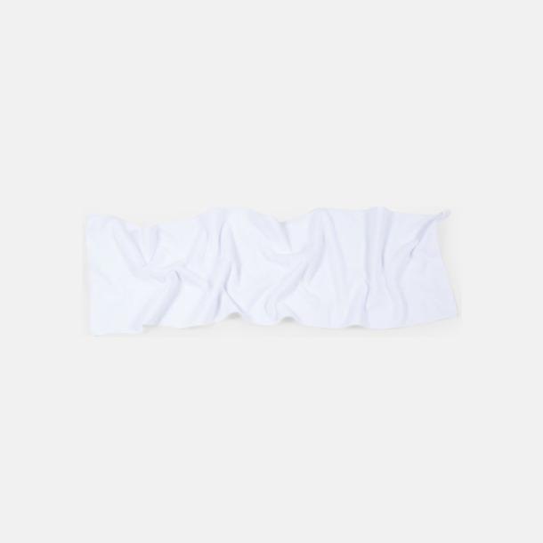 Vit (30 x 110 cm) Microfiber handdukar i 3 storlekar med reklambrodyr