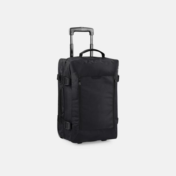 Svart (Cabin Wheelie) Trolley resväskor i 3 storlekar med reklamtryck
