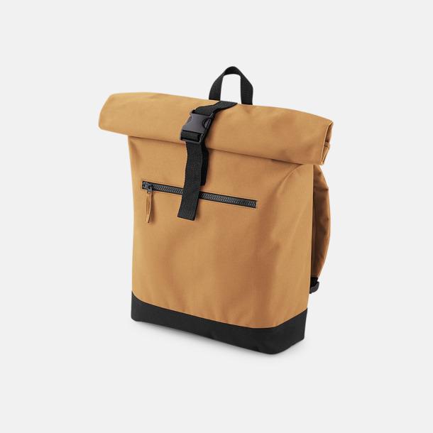 Caramel Datorryggsäckar med roll-top - med reklamtryck