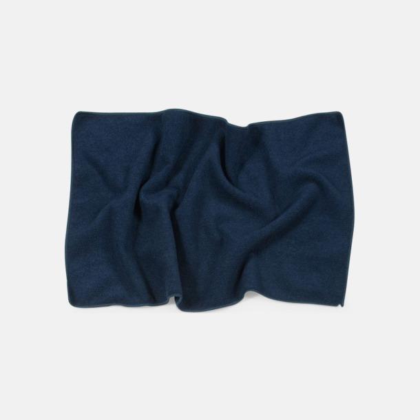 Marinblå (30 x 50 cm) Microfiber handdukar i 3 storlekar med reklambrodyr