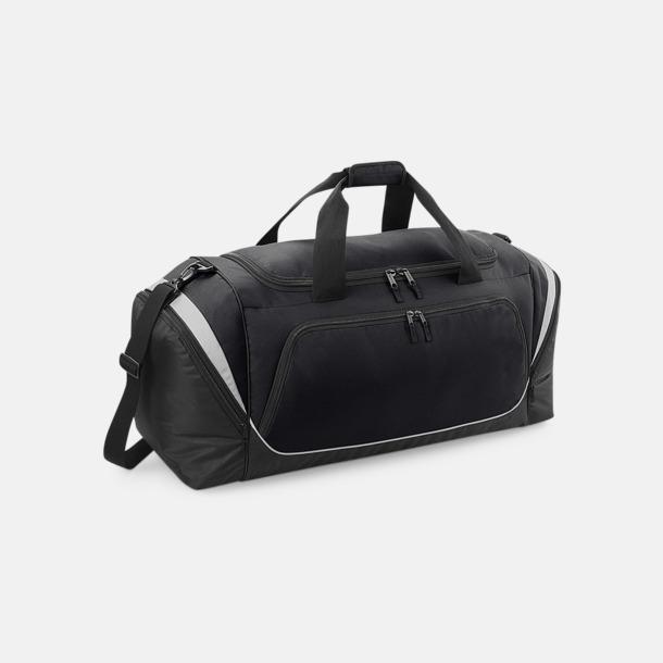 Svart/Ljusgrå Extra stora sportväskor med reklamtryck