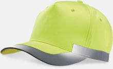 Reflexkeps i fluorescerande färg med reklambrodyr