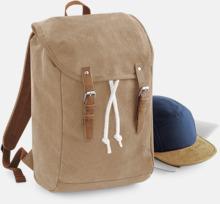 Vintage-ryggsäckar med reklamtryck