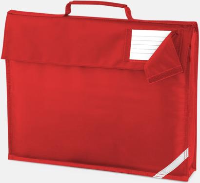 Bright Red (utan rem) Bokväskor med eller utan axelrem med reklamtryck