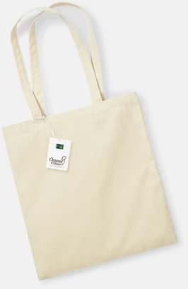 Natur Ekologiska bomullspåsar med reklamtryck
