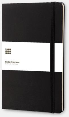 Svart Kalender med adressbok från Moleskine med reklamtryck