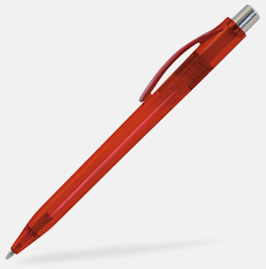 Röd Billiga och stiliga plastpennor med reklamtryck