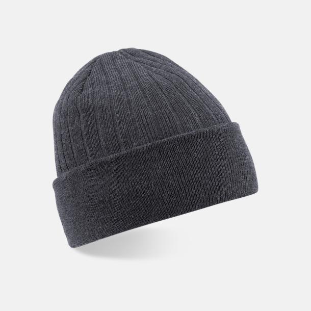 Dark Graphite Tunna och varma vintermössor med reklambrodyr