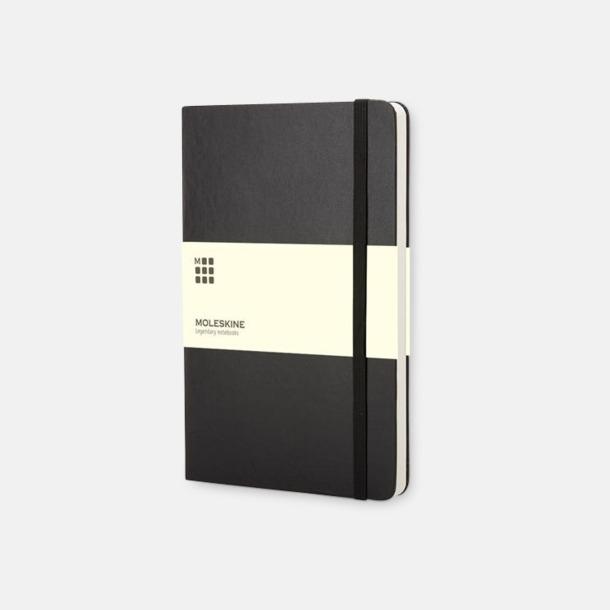 Svart (pocket) Moleskine-böcker med blanka sidor och hårt omslag - med reklamtryck
