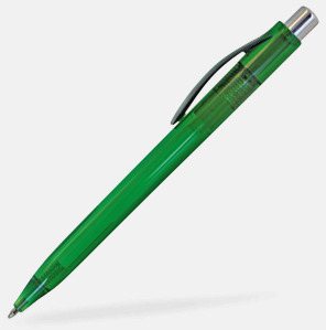 Grön Billiga och stiliga plastpennor med reklamtryck
