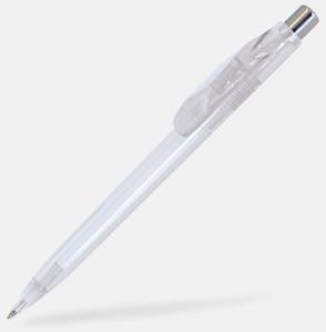 Vit (ofärgad) Billiga och stiliga plastpennor med reklamtryck