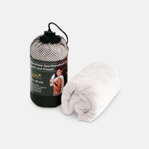 Polyesterhanddukar i 2 storlekar med reklambrodyr