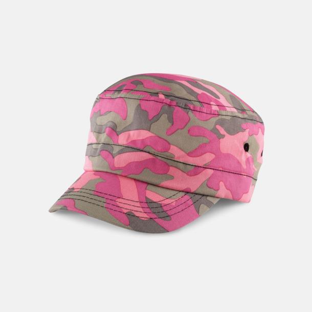 Pink Camo Kamouflagemönstrade kepsar med reklambrodyr
