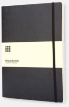 Moleskine extra stora, mjuka notisböcker i 3 utföranden med reklamtryck
