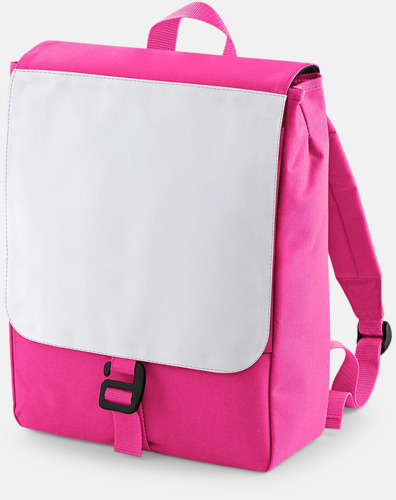 Fuchsia Mindre ryggsäckar för barn med eget sublimationstryck