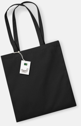 Svart Ekologiska bomullspåsar med reklamtryck