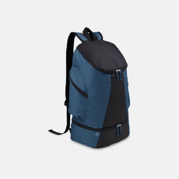 Petrol Blue/Svart Gymryggsäckar med reklamtryck