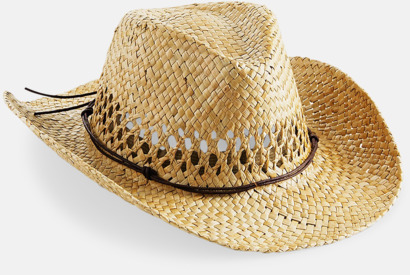 Natur Unisex stråhattar i cowboystil