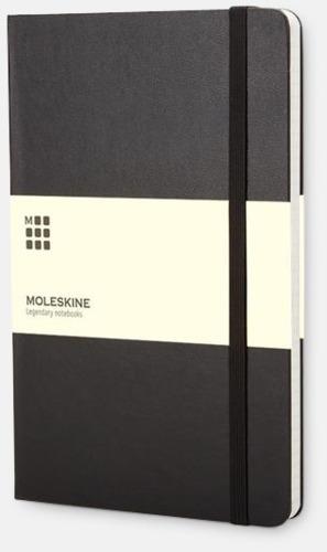 Svart (squared) Moleskines mindre (ca A6) anteckningsböcker med linjerade eller rutade sidor - med reklamtryck