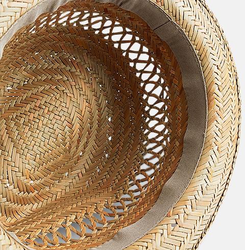 Handgjorda stråhattar med tryckbart band