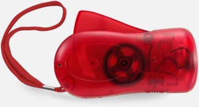 Röd Miljövänliga ficklampor med eget tryck