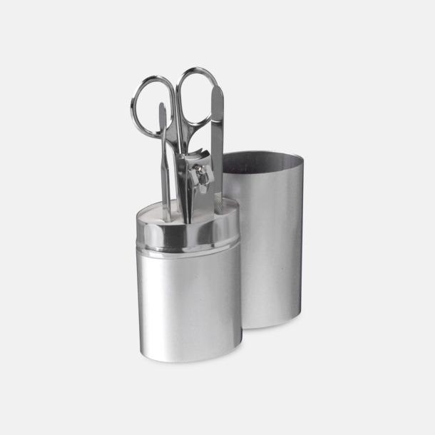 Silver Manikyrset med tryck