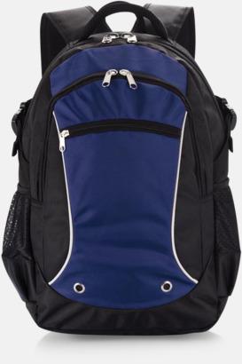 Blå Sportiga laptopryggsäckar i PVC-fritt material med reklamtryck