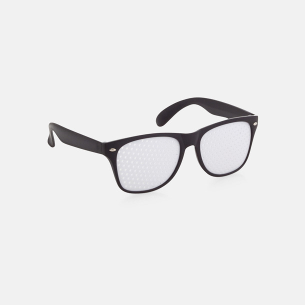 Svart Solglasögon med tryck direkt på glaset
