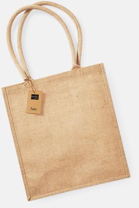 Natur Shoppingbagar i jute med reklamtryck