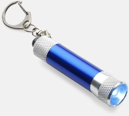 Blå / Silver Ficklampor med gravyr
