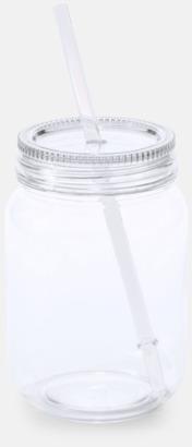 Transparent Burkformade muggar med sugrör - med reklamtryck