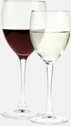 Klassiska röd- & vitvinsglas med reklamtryck